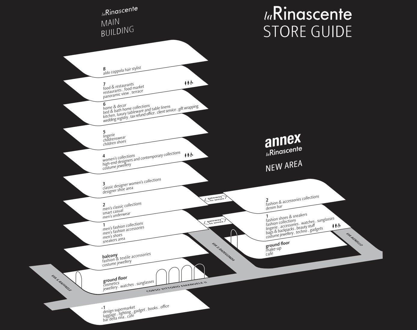 Mappa di La Rinascente
