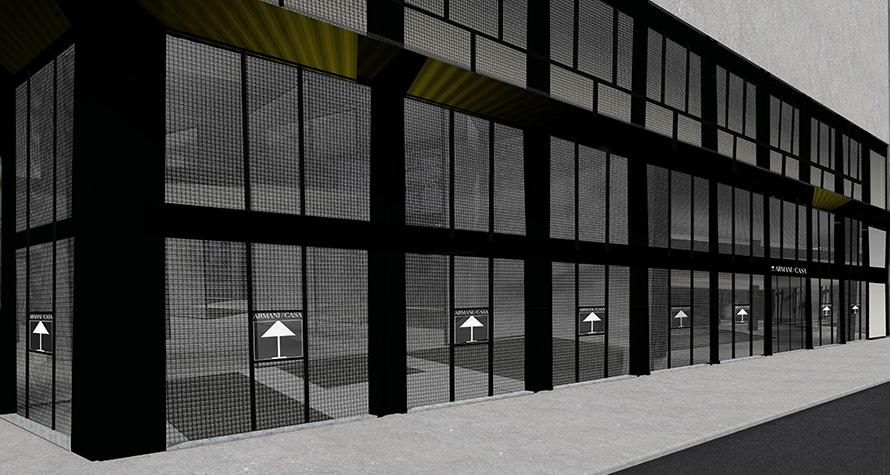 Armani casa annunciata apertura in corso venezia for Arredamento armani